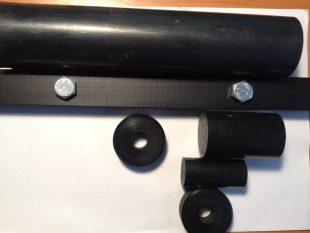 Капролон графитонаполненный стержень 460 мм x 1000